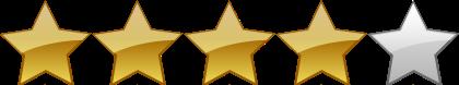 calificación 4 estrellas