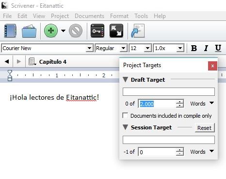 scrivener-objetivo-palabras